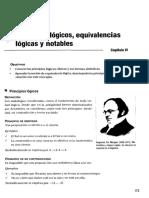 Principios Lógicos, Equivalencias Lógicas y Notables