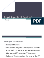 Class 5-Damages and Force Majeure in Contract