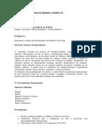 Relatório n° 9 - Padronização de Permangato de Potássio