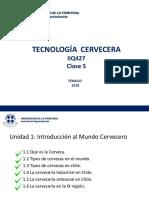 Tecnología Cervecera Clase 5