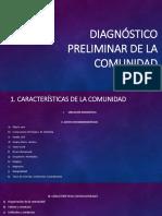 Diagnóstico Preliminar de La Comunidad