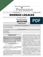 Edición extraordinaria de las Normas Legales