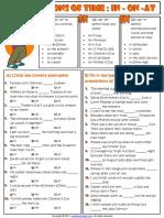 prepositions of time in on at esl grammar exercises worksheet.pdf