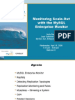 Monitoring Scale-out with the MySQL Enterprise Monitor Presentation