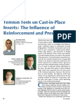 Tension Tests on Cast-In-Place Inserts - The Influence of Reinforcement and Prestress