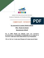 RN1 Route Du Littoral - Basculement Total Effectif