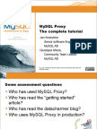 MySQL Proxy  The Complete Tutorial  full day  Presentation