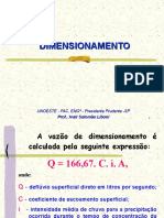 2 - DIMENSIONAMENTO Drenagem total