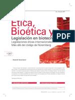 Bioetica y Legislacion en Biotecnologia