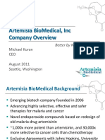 Artemisa BioMedical Overview