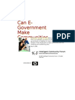 Can E-Government Make Communities More Competitive?