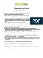 Guildelines for Food Vehicle