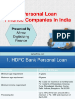 Top 10 Bank for Best Personal Loan