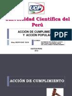 acción de cumplimiento  y acción  popular en el Perú