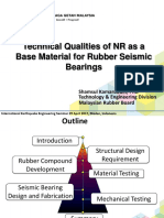 Technical Qualities of NR as a Base Material for Rubber Seismic Bearings