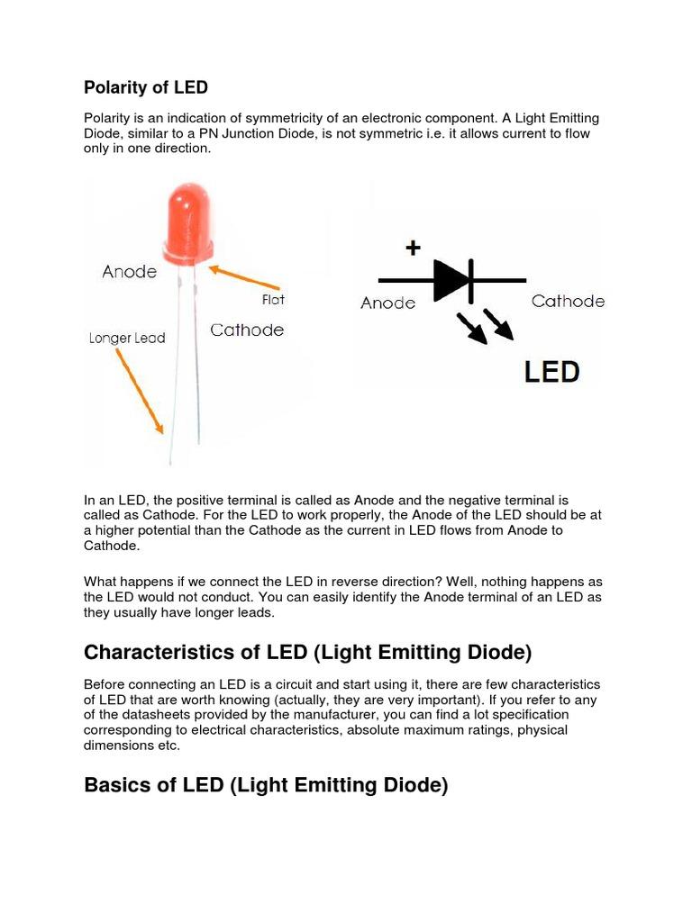 3basics Of Led Light Emitting Diode Electrical Circuits