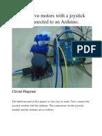 control servo motors with joystick