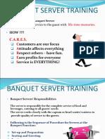 Banquet Server Basic Skill Training