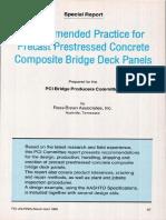 Recommended Practice for Precast Prestressed Concrete Composite Bridge Deck Panels