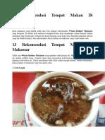 13 Rekomendasi Tempat Makan Di Makassar