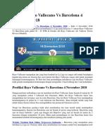 Prediksi Rayo Vallecano vs Barcelona 4 November 2018