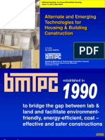 Alternate and Emerging Technologies for Housing and Building Construction