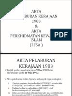 Government Invesment Act 1983 (Akta Pendanaan Kerajaan (1)