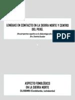 Lenguas en Contacto en La Sierra Norte y Centro Del Peru
