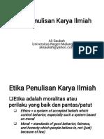 Etika Penulisan 2018 Ali Saukah Terpisah