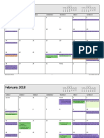 Calender Medis - Monthly Style