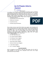 Sejarah Dan Isi Piagam Jakarta