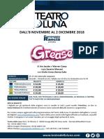 Teatrodellaluna Grease 8novembre-2dicembre2018