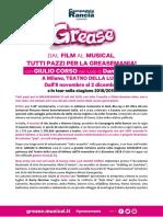 Teatrodellaluna Grease Comunicatotour