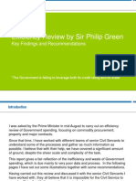 Efficiency Review by Sir Philip Green - Key Findings and Recommendations