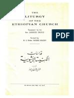 The Liturgy of the Ethiopian Church 1959 Original English Arabic
