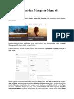Cara Membuat Dan Mengatur Menu Di WordPress
