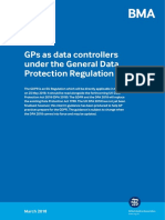 GPs Data Controllers under GDPR