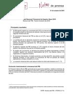 Contabilidad Nacional Trimestral de España. Avance del PIB. Tercer trimestre de 2018 [PDF]