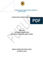 1st Deputy Gov's Speech - Launch of the Cyber Security Directive for Financial Institutions