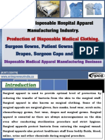 Surgical Disposable Hospital Apparel Manufacturing Industry