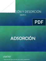 Adsorción y Desorción