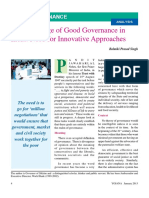 1. the Challenge of Good Governance In