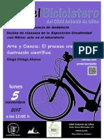 En el Bicicletero del CRAI... Arte y Ciencia