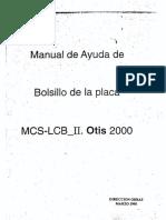 OTIS 2000 - MCS-LCB II - Manual de Bolsillo de La Placa