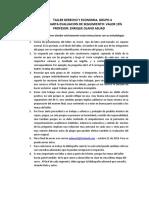 Taller Derecho y Economia Grupo 4 Septiembre 2018