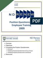 Nd Employee Pq Training