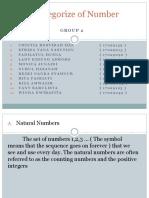Categorize of Number