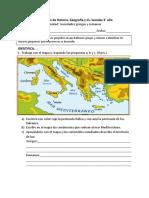 Evaluación de Historia 3° GRIEGOS Y ROMANOS