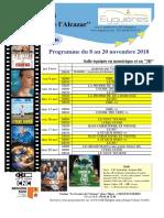 Programme Cinéma Du 8 Au 20 Novembre 2018