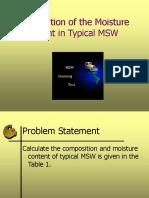 Exercise EstimationoftheMoistureContentinTypicalMSW